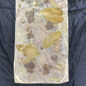 Silk Prints from Suffolk Leaves