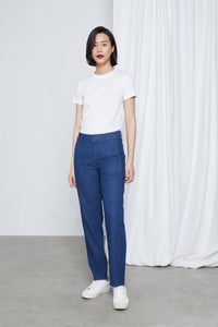ECLIPSE - Relaxed Carrot, Organic Denim Linen