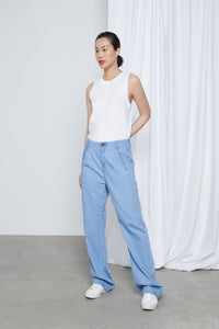 LUNE - Straight, Organic Denim Linen