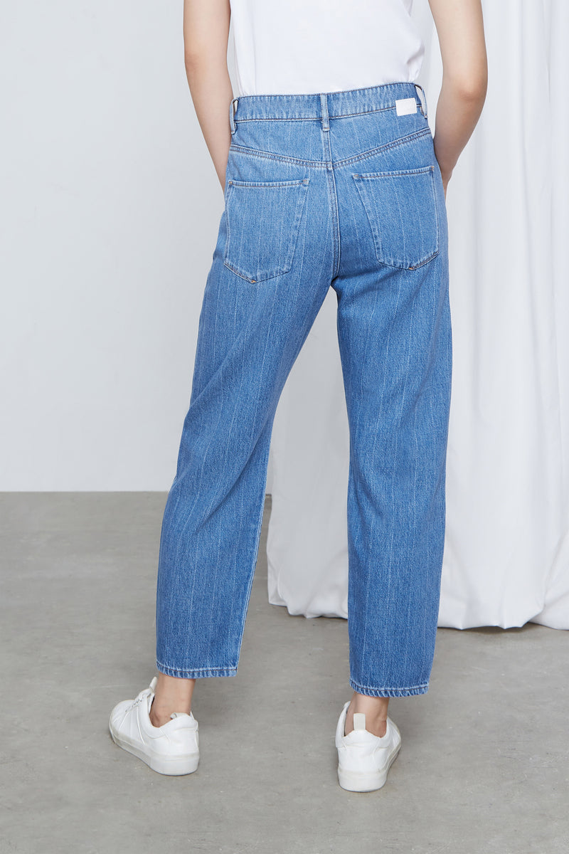 STARDUST - O-Shape, Organic Pure Denim, Laser Stripe Blue