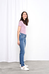 GLORY - Mom Fit, Organic Denim, Blue