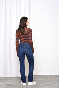 HEAVEN - Boyfriend, Organic Comfort Denim, Dark Blue