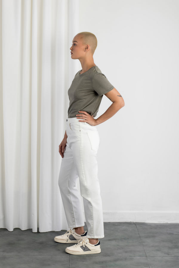 STARDUST - O-Shape, Organic Lightweight Denim, White Slub