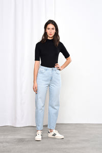 STARDUST - O-Shape, Organic Lightweight Denim, Super Bleach