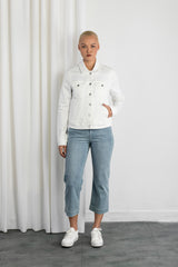 AURORA - Jacket, Organic Lightweight Denim, White Slub