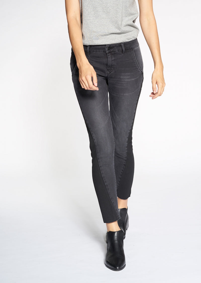 HEAVEN - Boyfriend, Color Mix Denim, Black-Grey