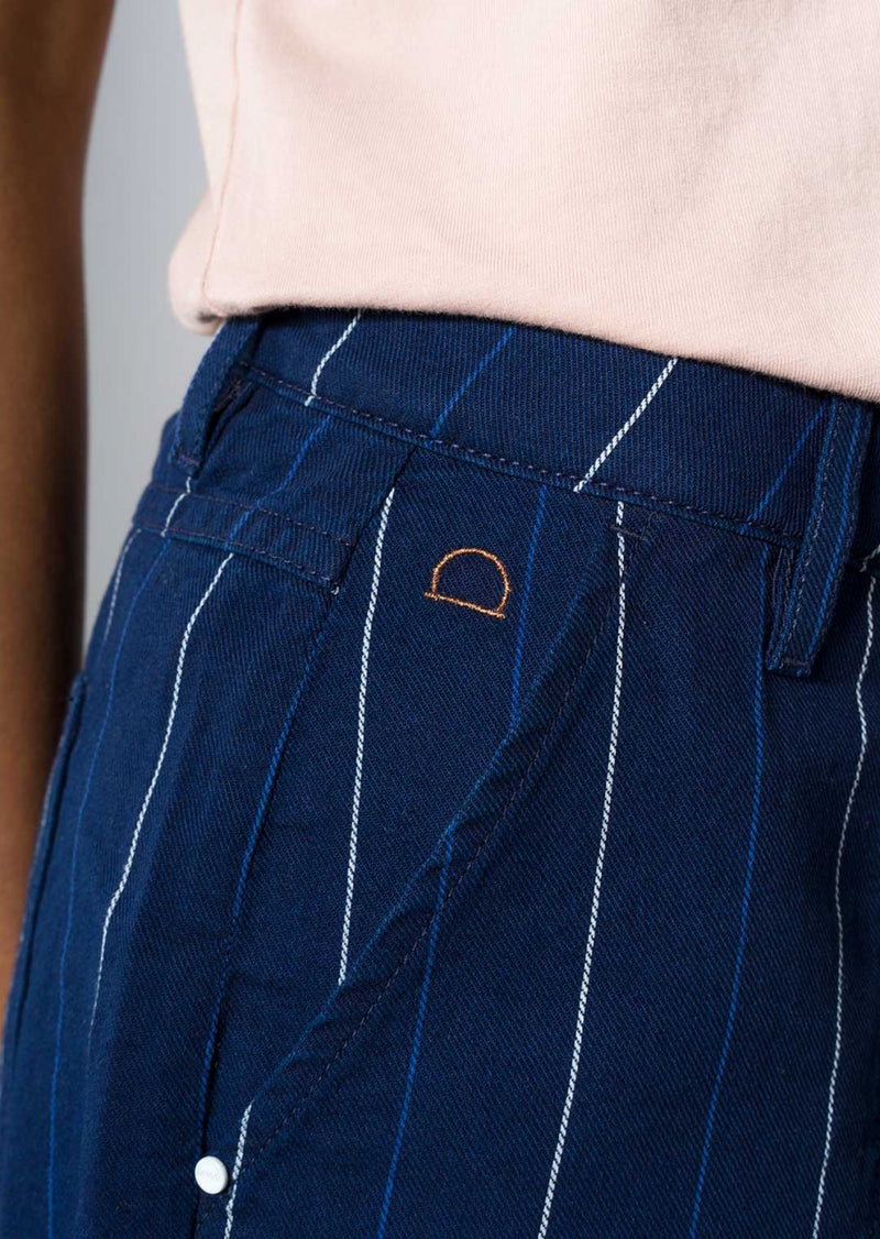 DEW - Flared, Short, Stripe Denim