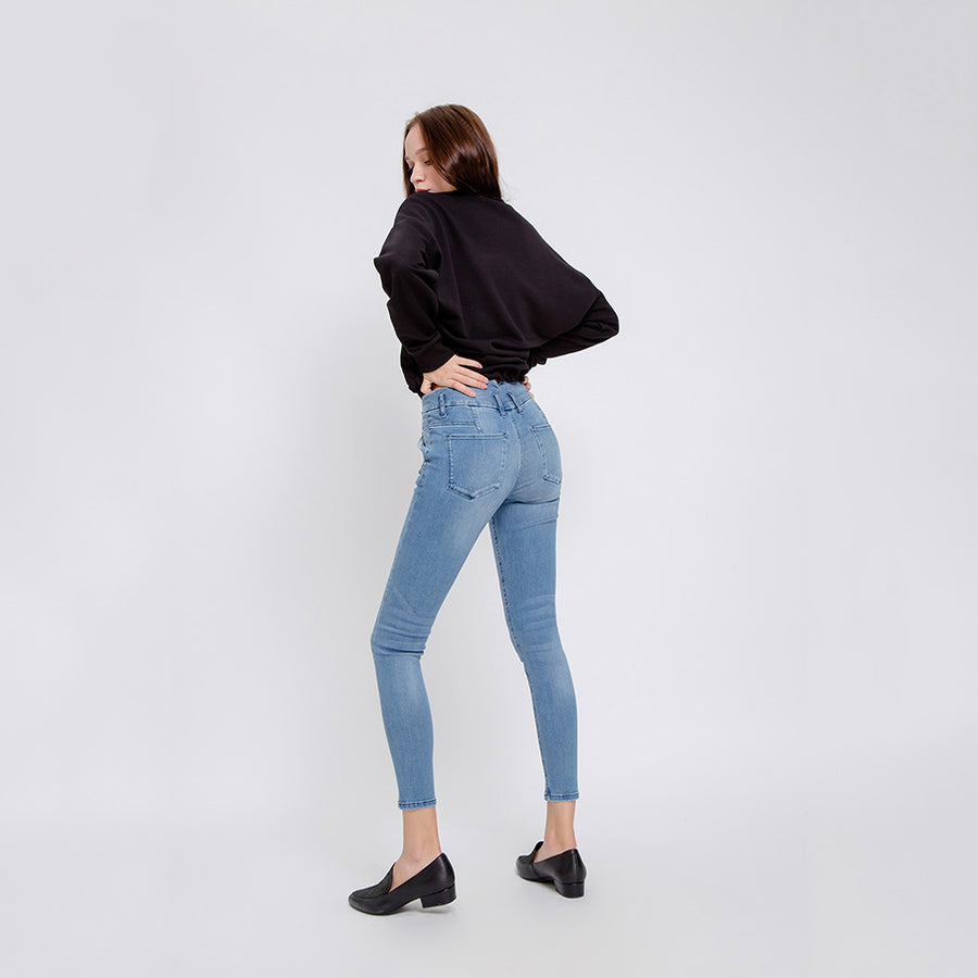 SUN UP - High Waist Skinny, Twist