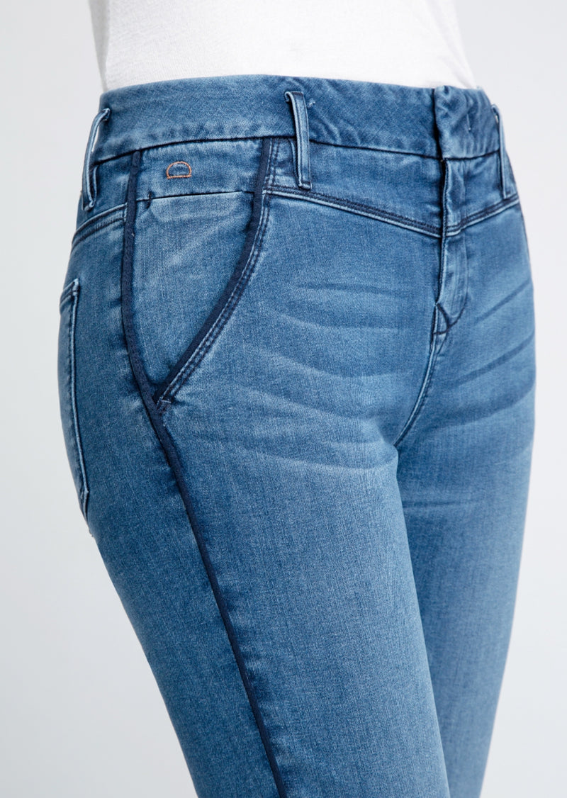 SUN UP - Skinny, Organic Powerstretch Denim, Piping