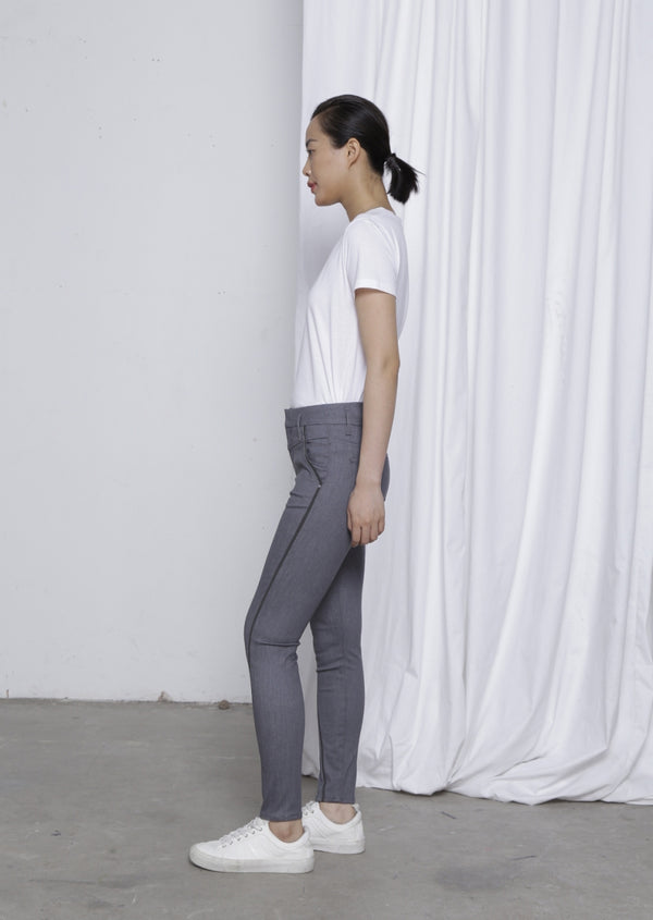 SUN UP - Skinny, Organic Powerstretch Denim, Reflective