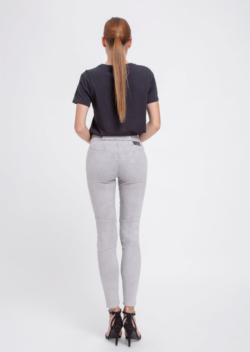 SUN UP - Skinny, Organic Powerstretch Denim, Silver Bleach Biker