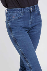 SUN UP - Skinny, Organic Powershaper Denim, Braiding