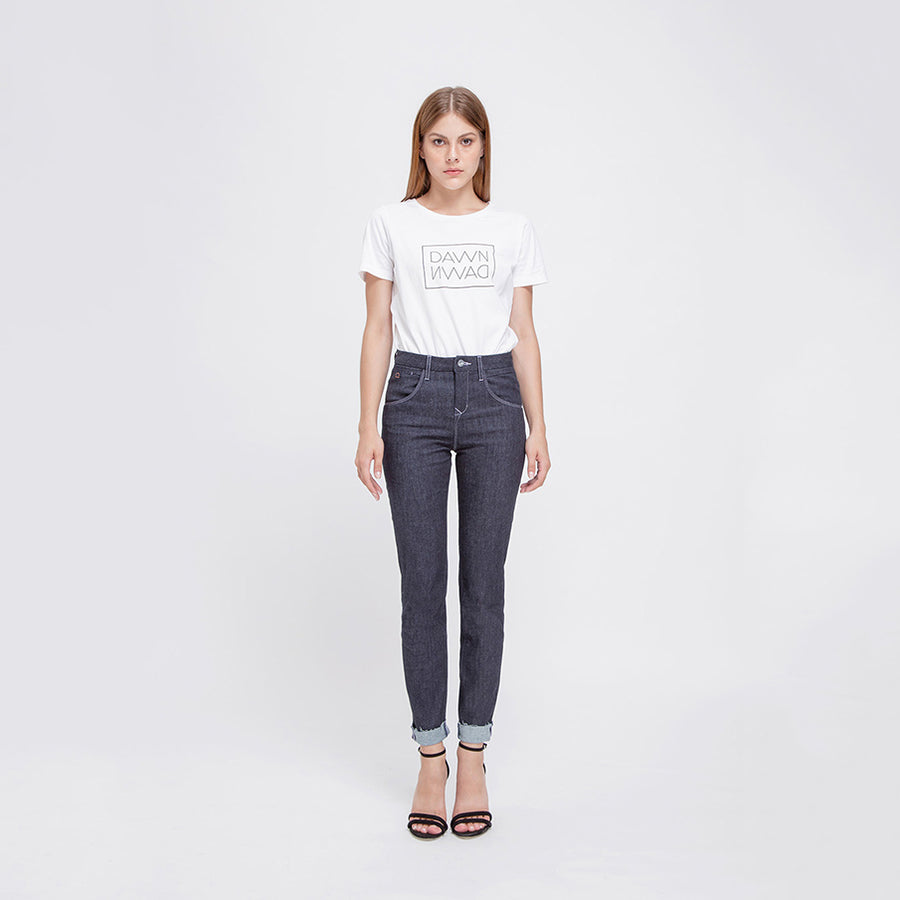 GLORY - High Waist Slim Tapered, Basic Raw