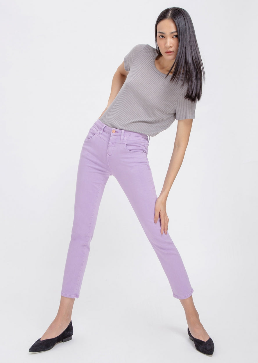 GLORY - Mom Fit, Colored Soft Denim, Lilac
