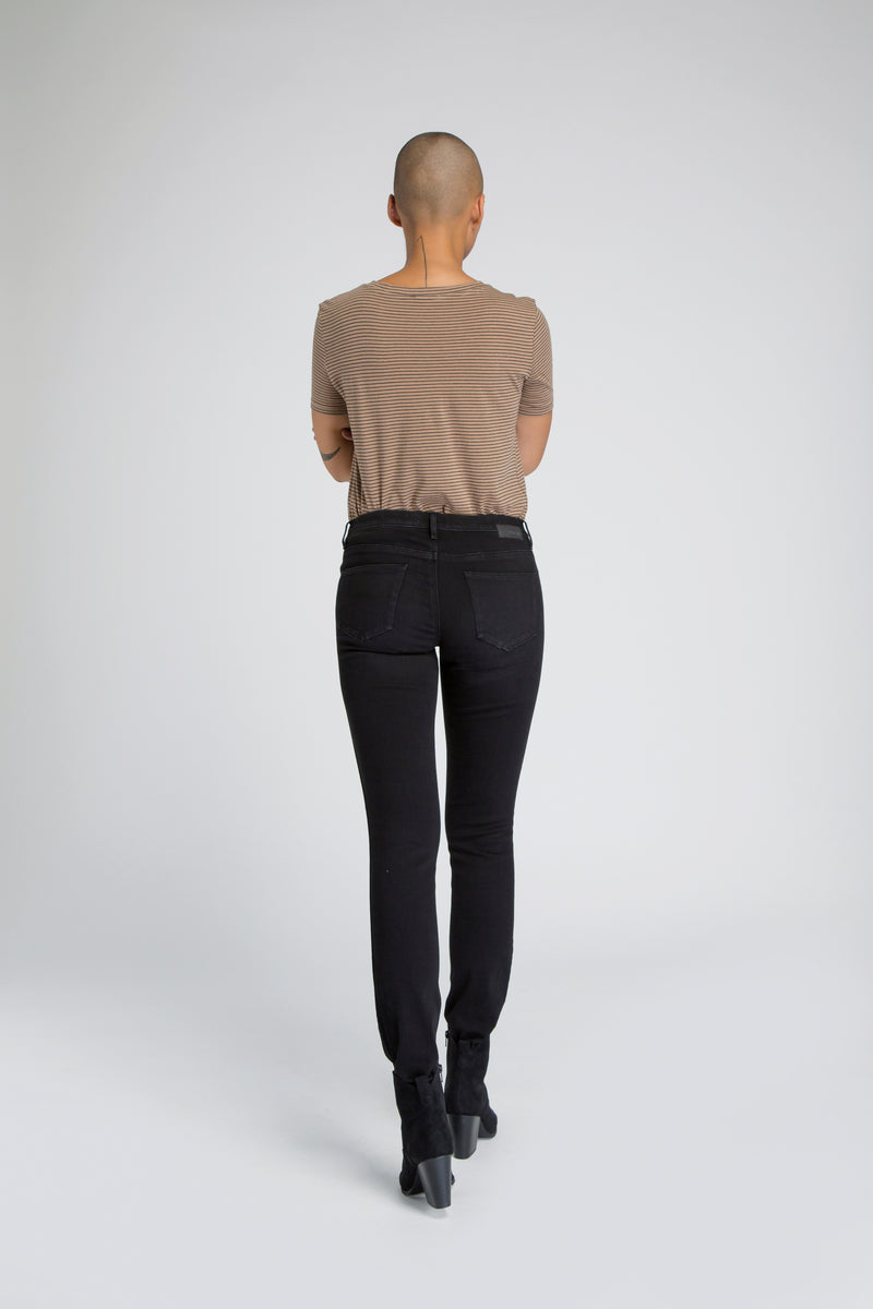 MID SUN - Slim, Organic Powerstretch, Black Tuxedo