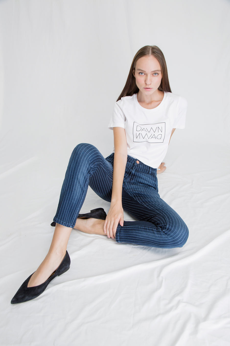 HEAVEN - Boyfriend, Sustainable Pinstripe Denim