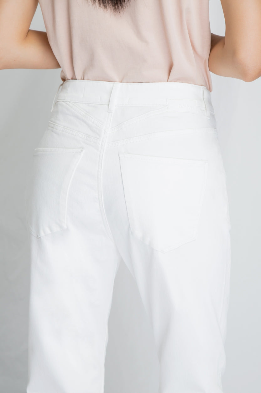 STARDUST - O-Shape, Sustainable Soft Denim, White