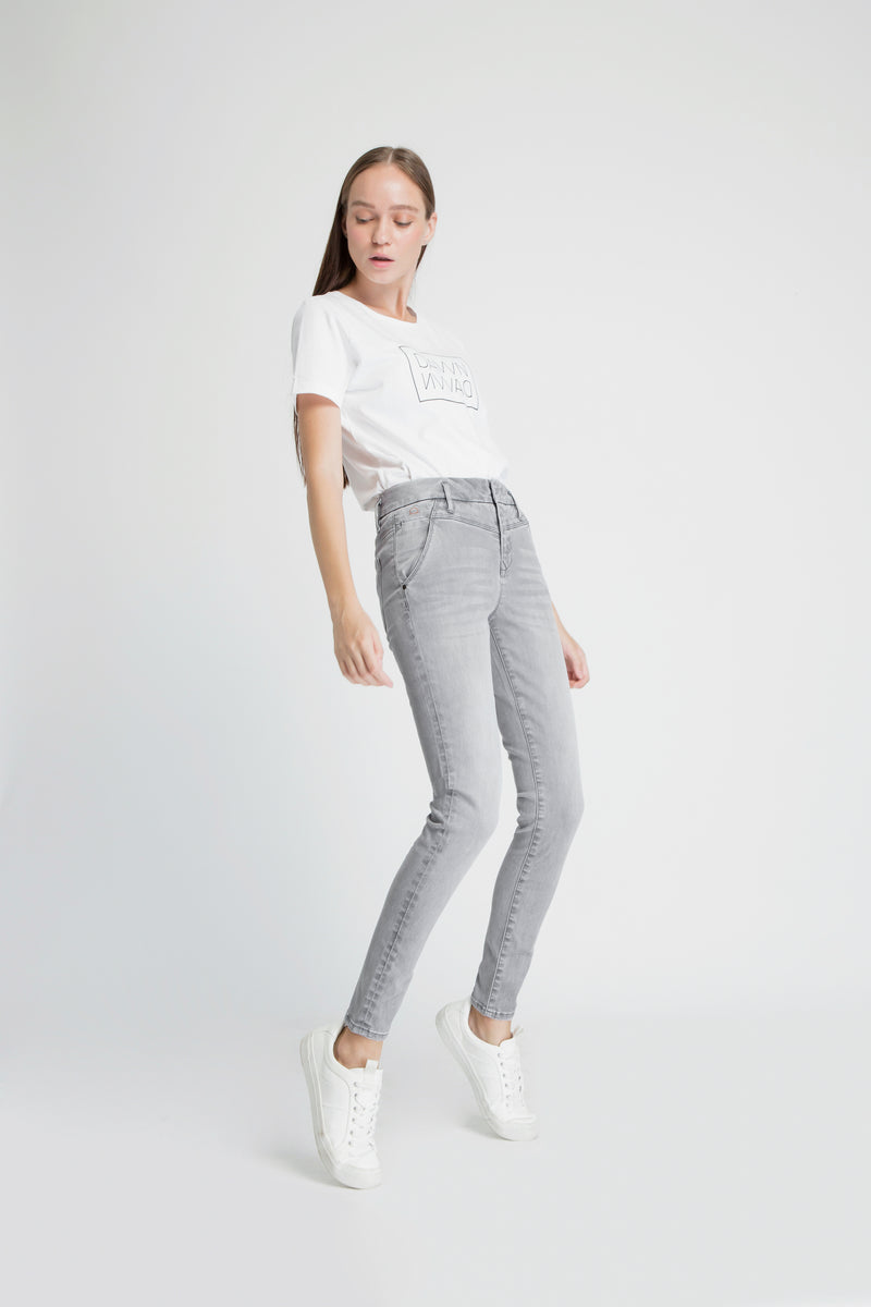 SUN UP - Skinny, Organic Powerstretch Denim, Silver