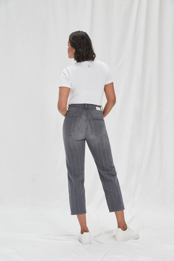 STARDUST - O-Shape, Organic Pure Denim, Lasered Stripe
