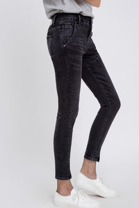 SUN UP - Skinny, Organic Powerstretch Denim, Black