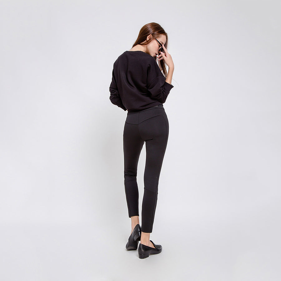 SUN UP - High Waist Skinny, Elegant Scuba