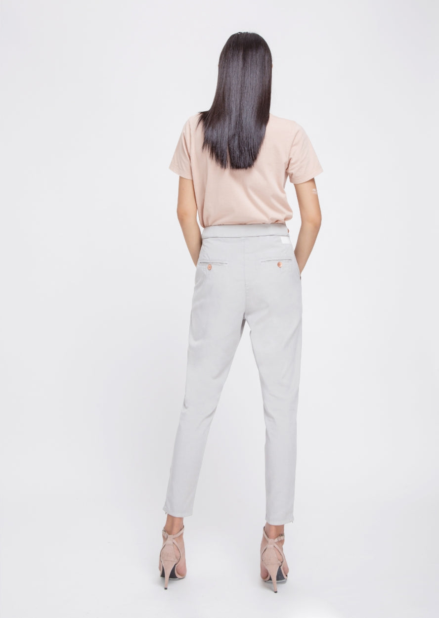 SUNSHINE - Tapered, Tencel Lightweight Jogger, Silver
