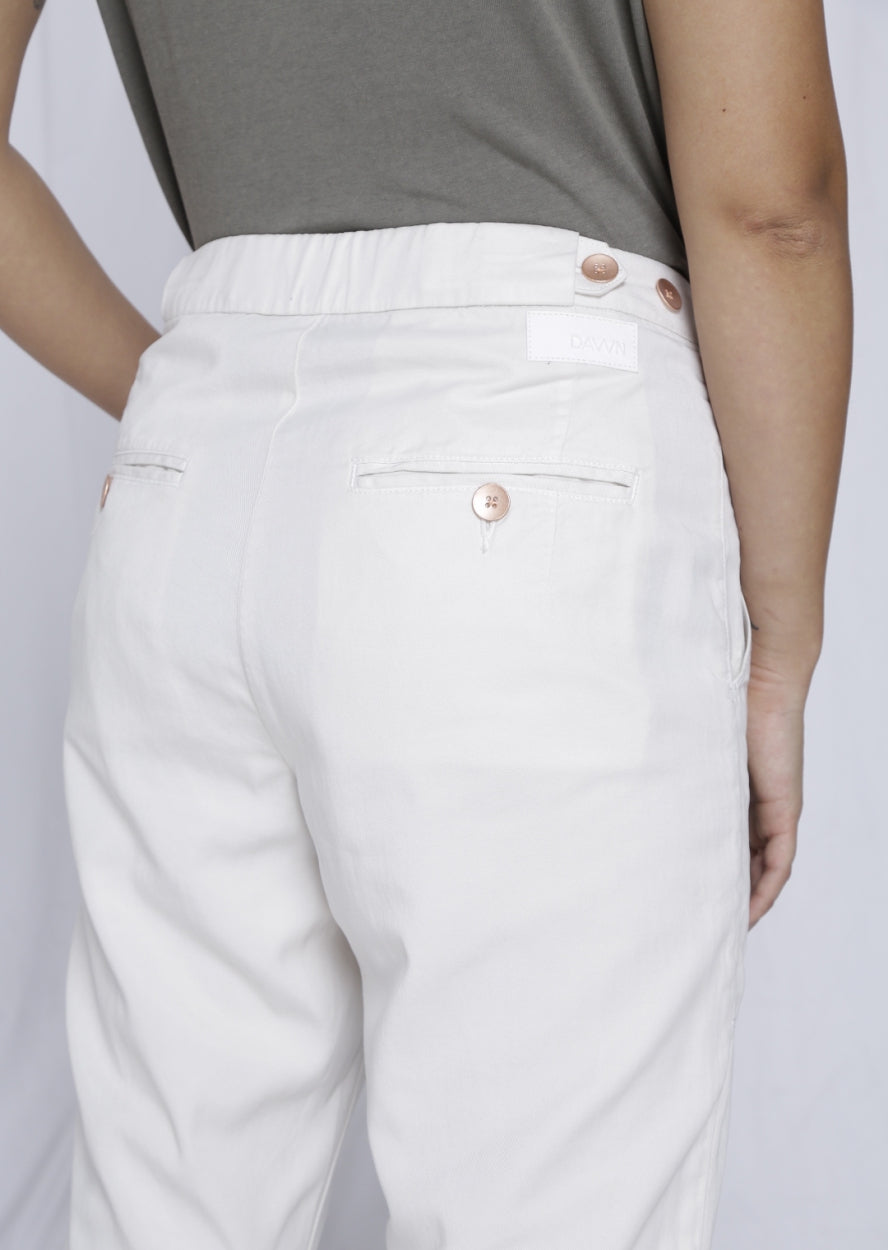SUNSHINE - Tapered, Tencel Lightweight Jogger, Off-white
