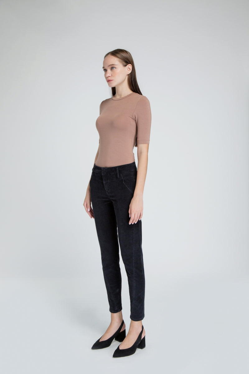 SUN UP - Skinny, Stretch Cord Denim, Black