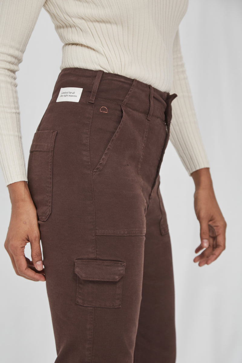 LUNE - Straight, Sustainable Color Denim, Cargo