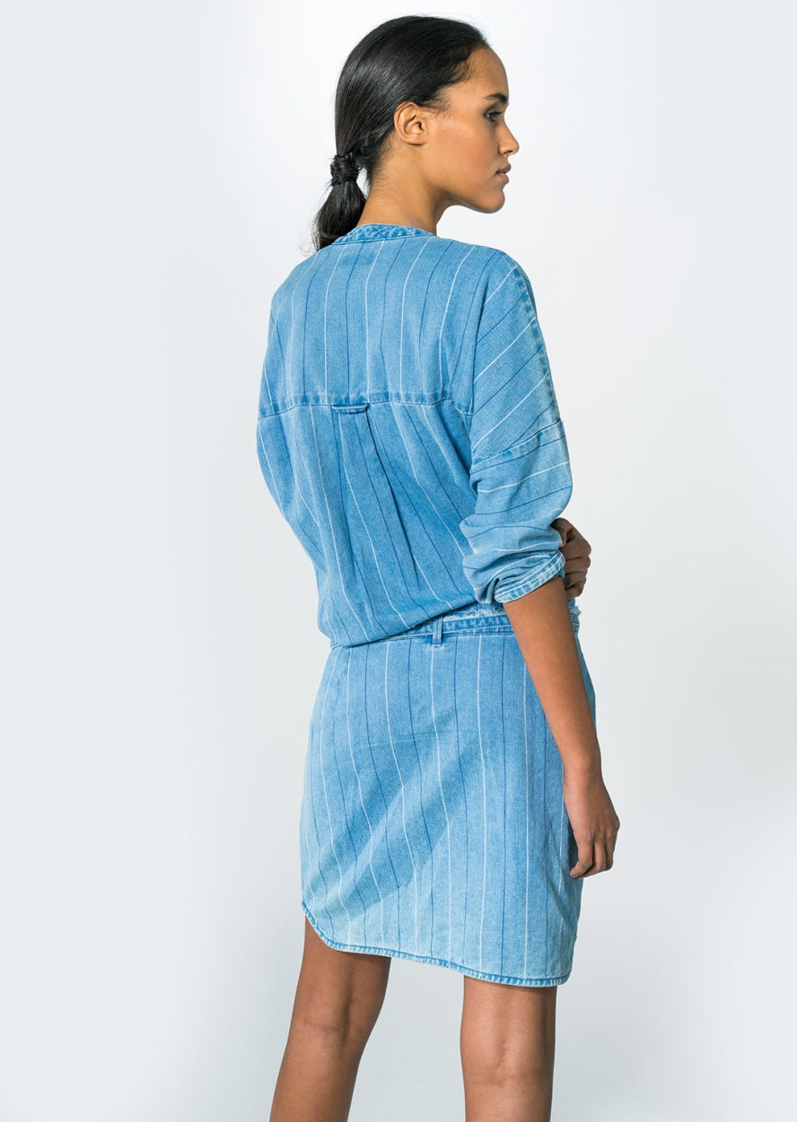 DAY AND NIGHT - Dress, Pinstripe Denim