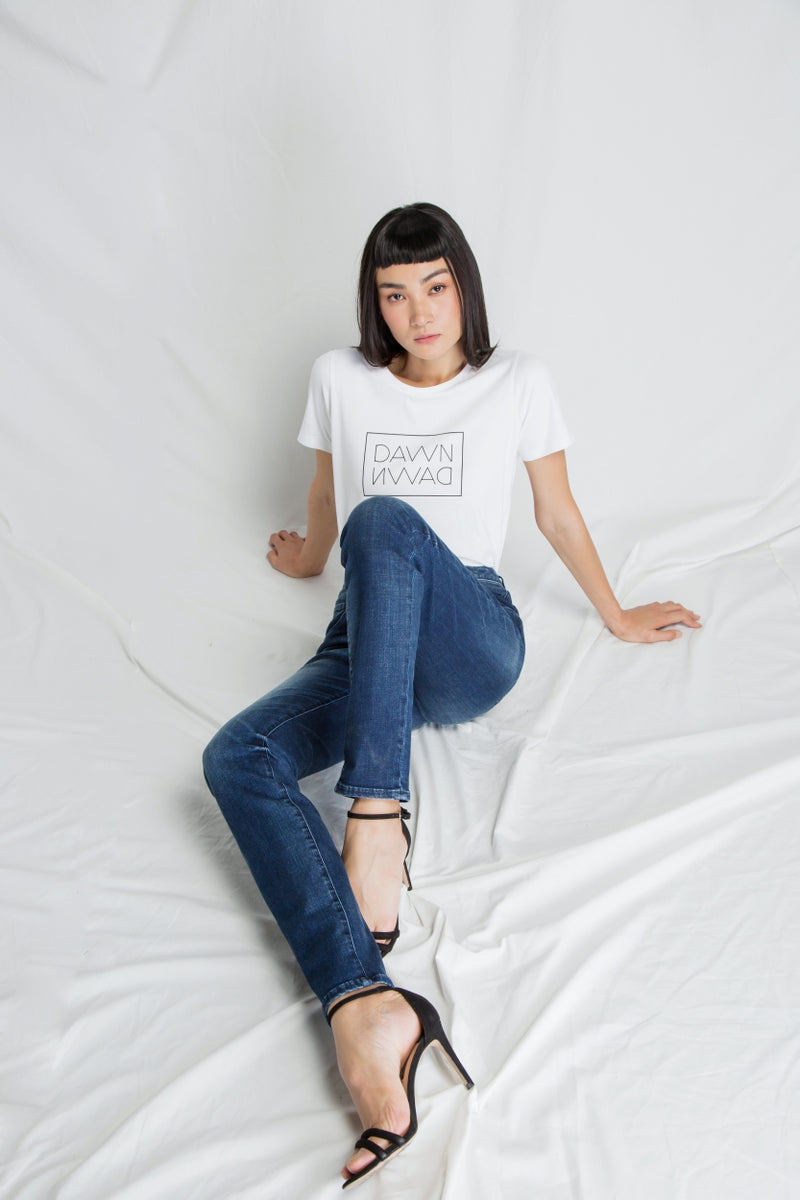 GLORY - Mom Fit, Organic Denim, Dark Indigo
