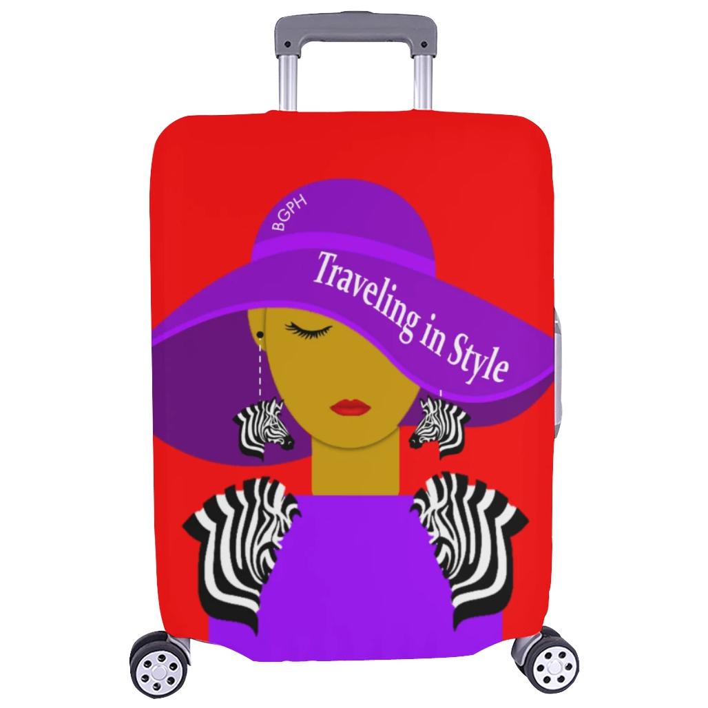 Traveling In Style (Zebra) Luggage Cover