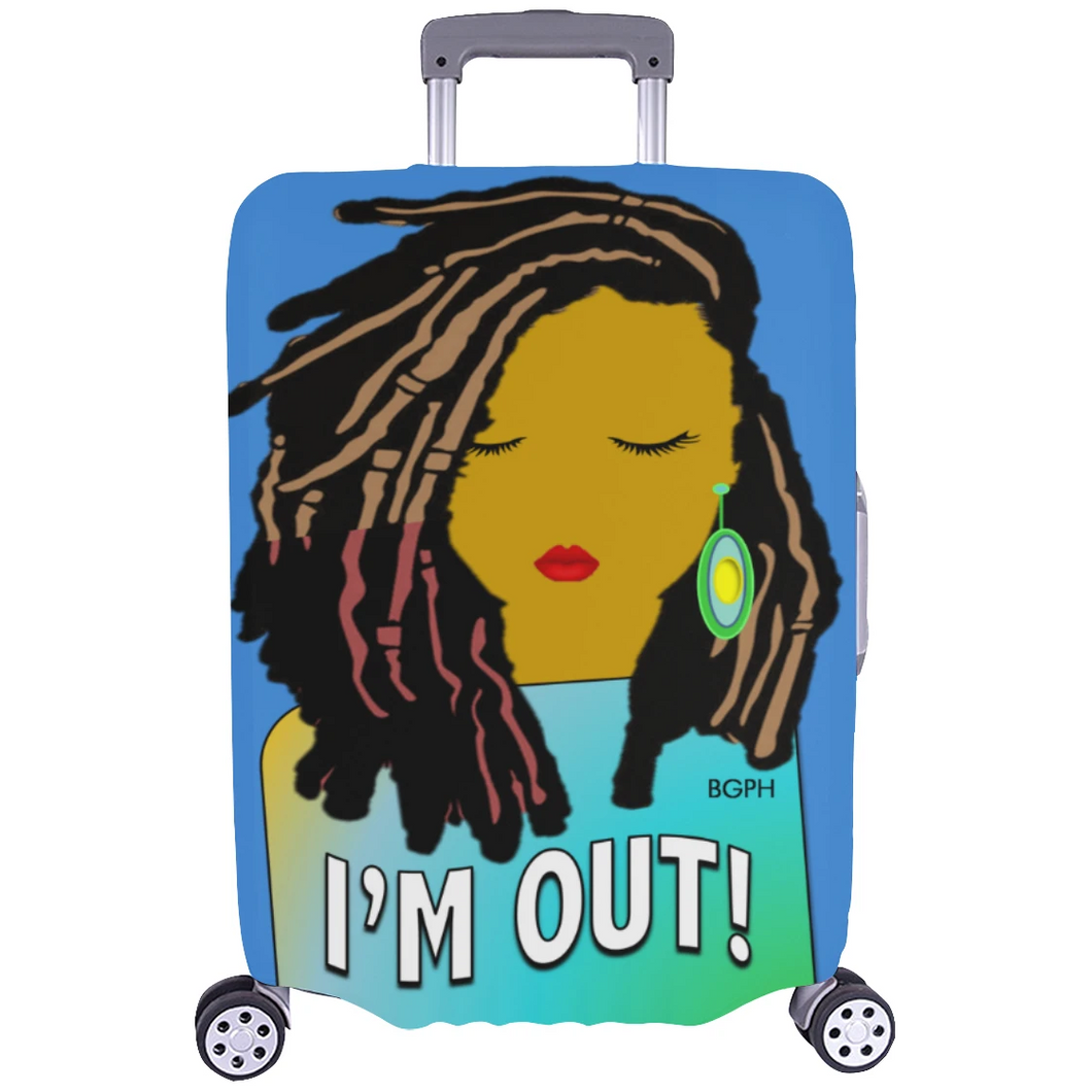 Locs Lady Luggage Cover