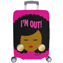 Load image into Gallery viewer, Afro I'm Out Luggage Cover
