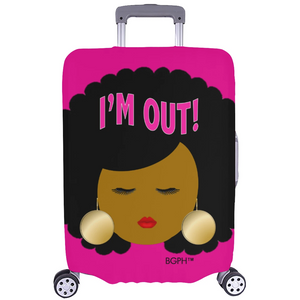 Afro I'm Out Luggage Cover