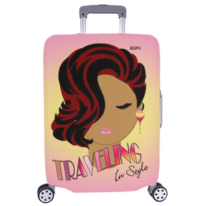 Traveling In Style Lady Luggage Cover