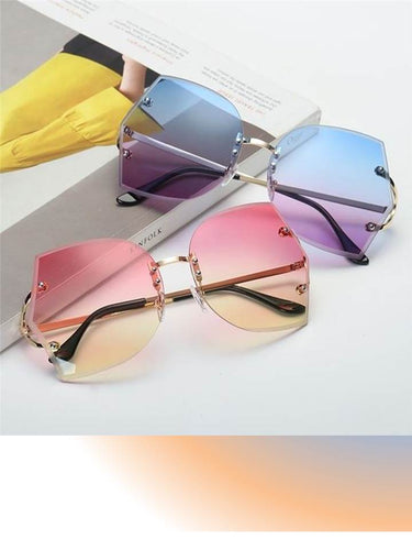 Transparent Over-sized Sunglasses