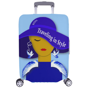 Traveling In Style (Bird) Luggage Cover