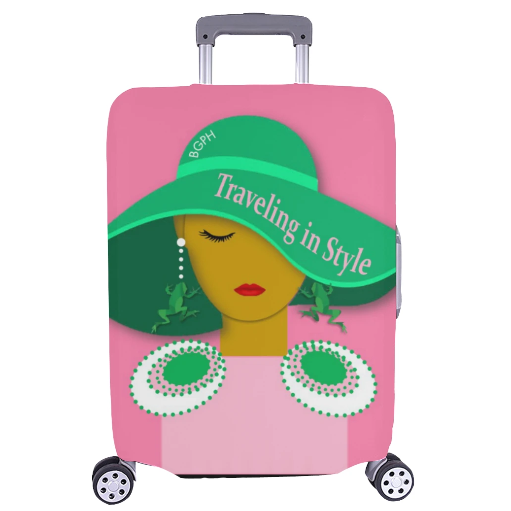 Traveling In Style (Frog) Luggage Cover