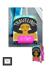 Load image into Gallery viewer, Traveling Aruba Lady Luggage Cover