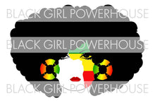 Load image into Gallery viewer, African Face Woman PNG File
