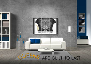 Queens Are Built To Last 3-Piece Wall Art