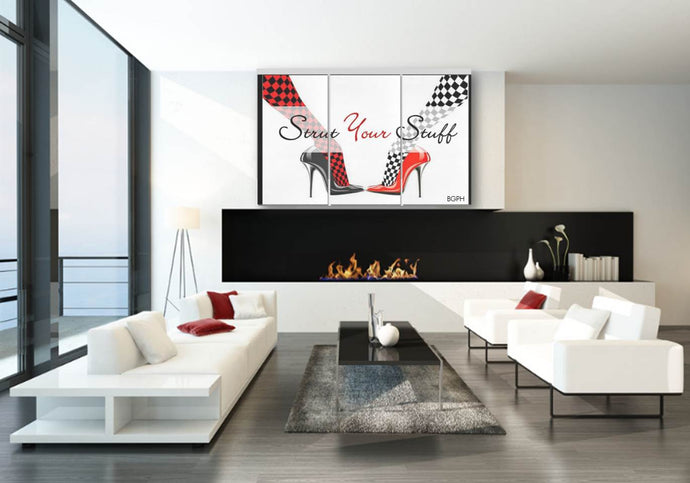 Strut Your Stuff 3-Piece Wall Art