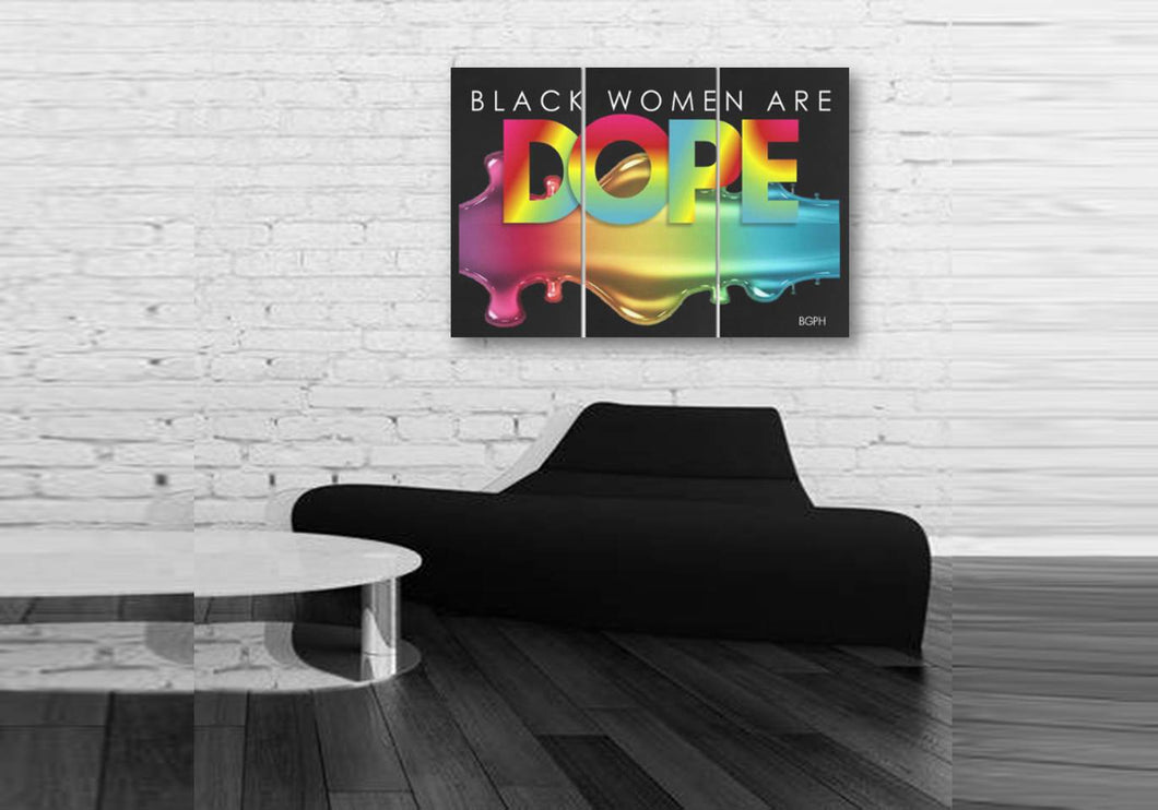 Black Women Are Dope 3-Piece Wall Art