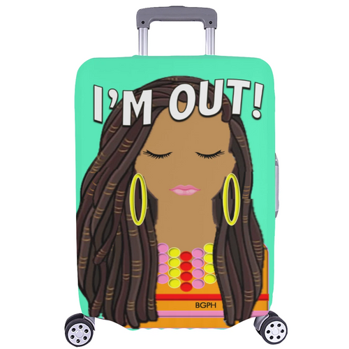 Long Locs Lady Luggage Cover
