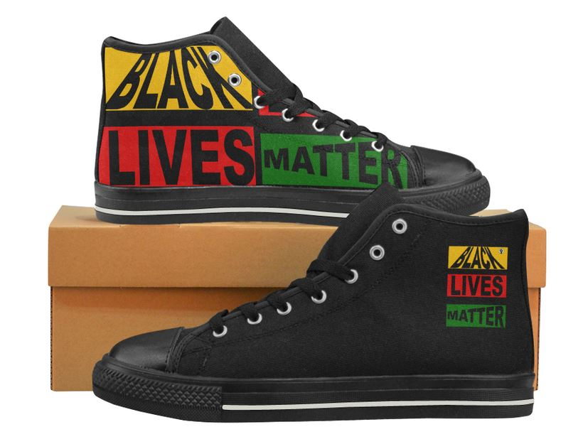 Black Lives Matter High Top Canvas For WOMEN