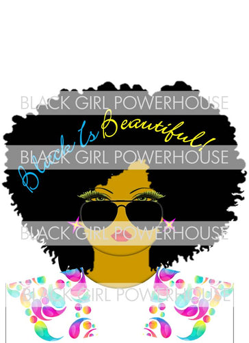 Black Is Beautiful Lady PNG