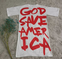 Load image into Gallery viewer, GOD SAVE AMERICA Oversized T-Shirt Dress