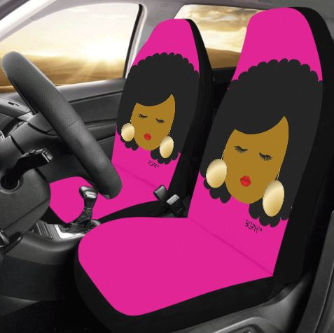 Afro Lady Car Seat Covers (2)