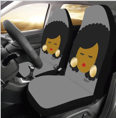 Afro Woman Car Seat Covers (2)